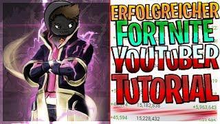 📈💰 Erfolgreicher Fortnite Youtuber werden Tutorial ⚠️ Parodie ⚠️