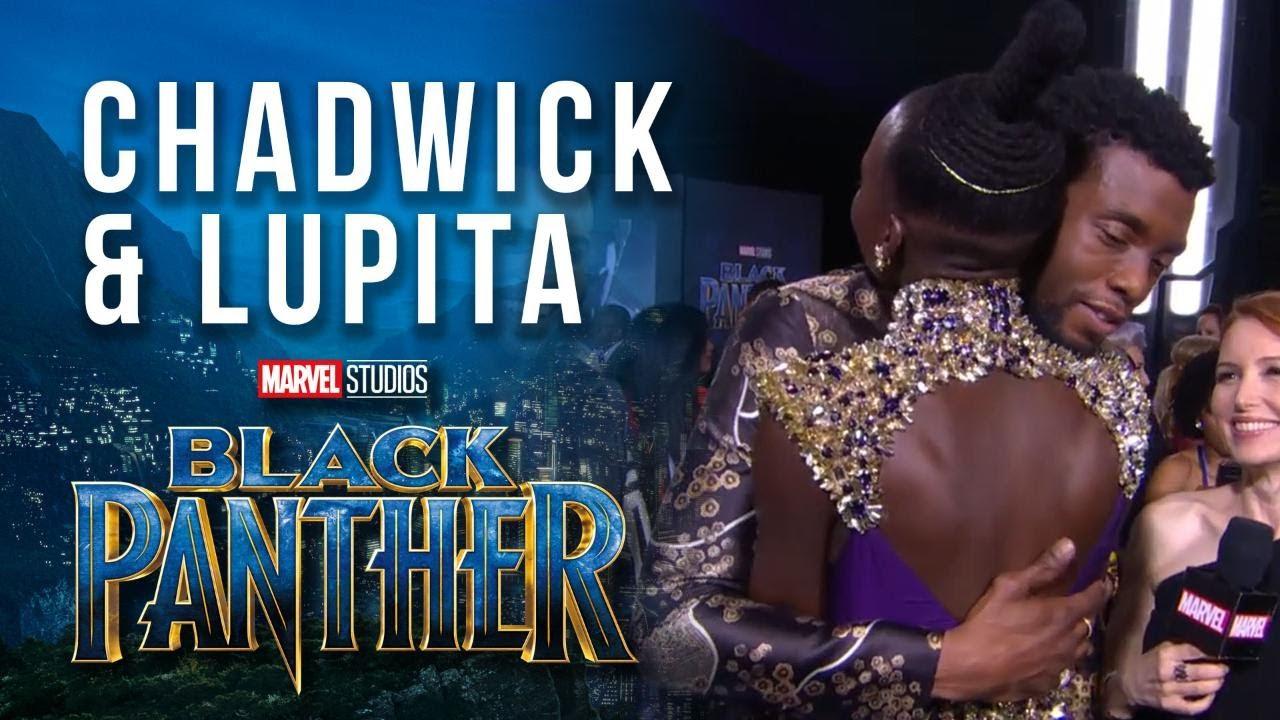 Chadwick Boseman Lupita Nyong O At Marvel Studios Black Panther World Premiere Red Carpet Youtube
