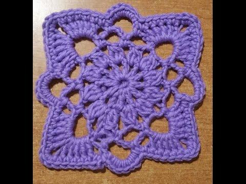 Piastrella alluncinetto Stargate  tutorial  granny square crochet  quadrado en crochet