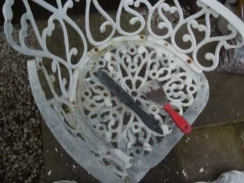 How To Re Old Cast Garden Furniture By Colscopters