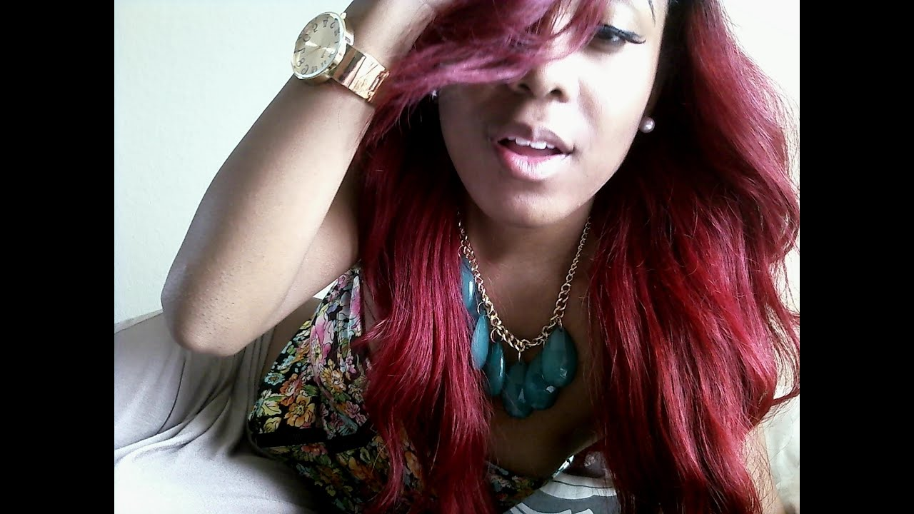 Hair Update Get Your Hair Kmichelle Red Youtube
