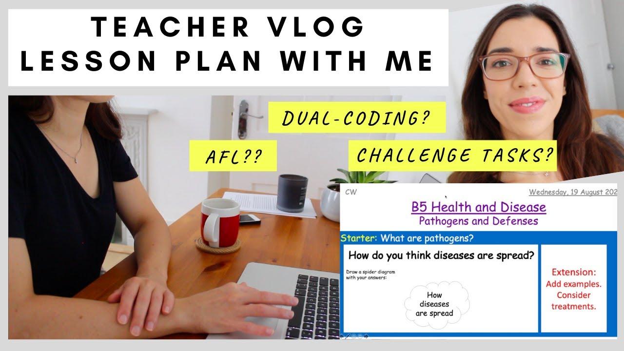 Teacher VLOG: Lesson plan with me | UK Science Teacher |