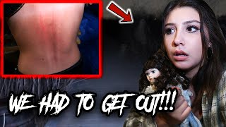 We Were CHASED Out Of The Haunted Bluff!! (SOMETHING GOT HER) **SCARY**