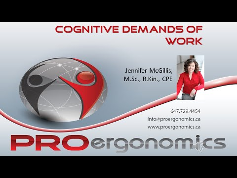 PROergonomics Webinar: Cognitive Demands