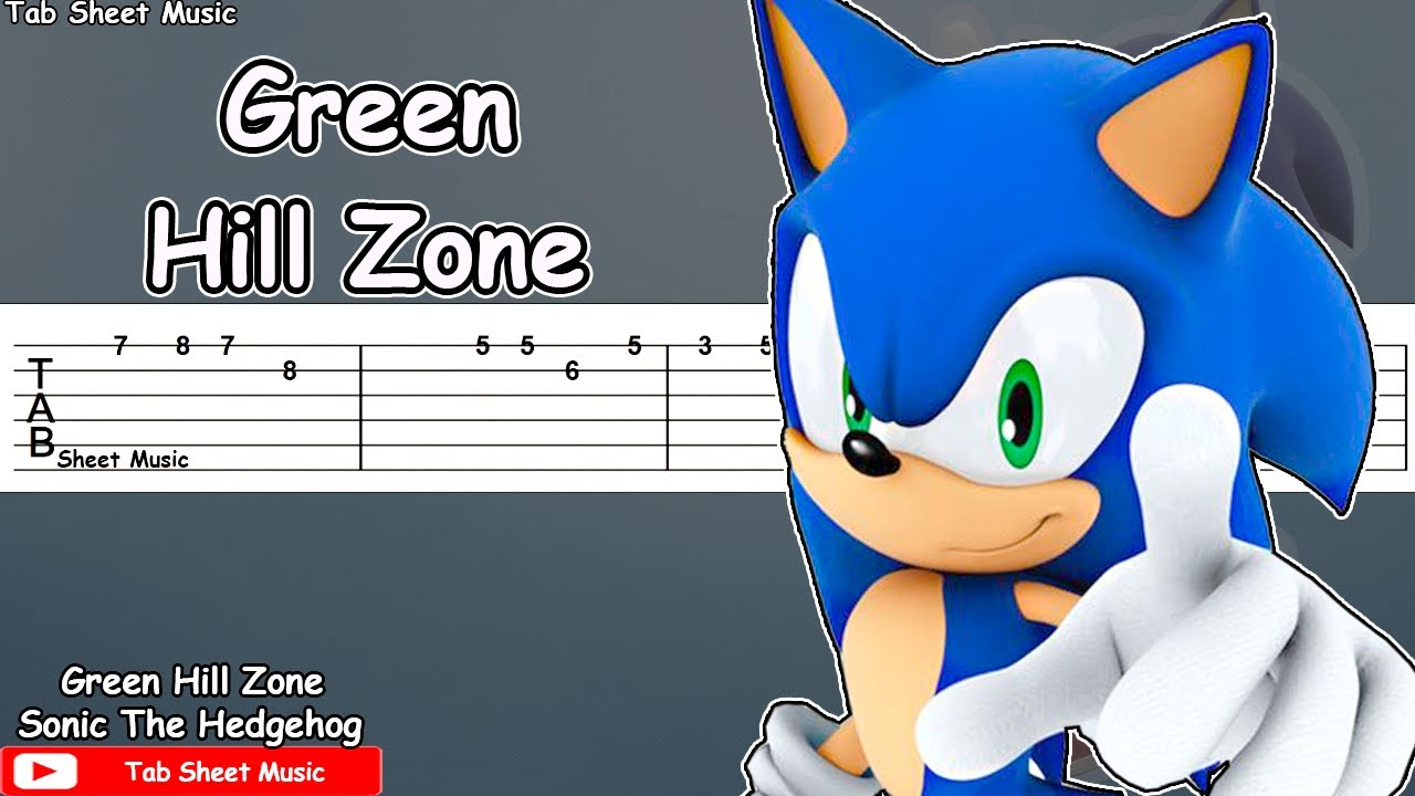 Sonic The Hedgehog Green Hill Zone Guitar Tutorial Youtube