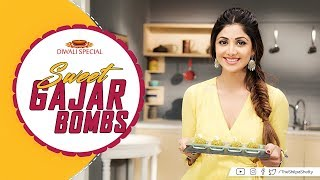 Diwali Special | Sweet Gajar Bombs | Shilpa Shetty Kundra | Healthy Recipes