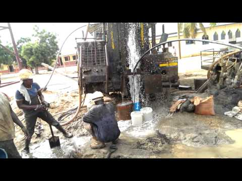 Borehole drilling at Ada Foah Ghana