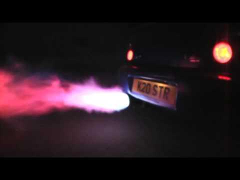 Subaru Impreza WRX STI огонь из глушителя