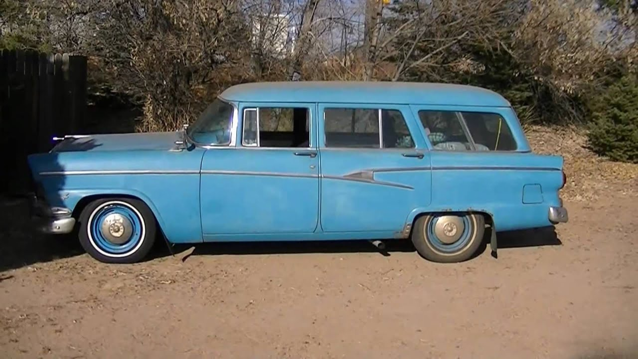 1956 ford customline wagon old car hunt - 1956 Ford Country Sedan Station Wagon What S That Terrible Noise Youtube