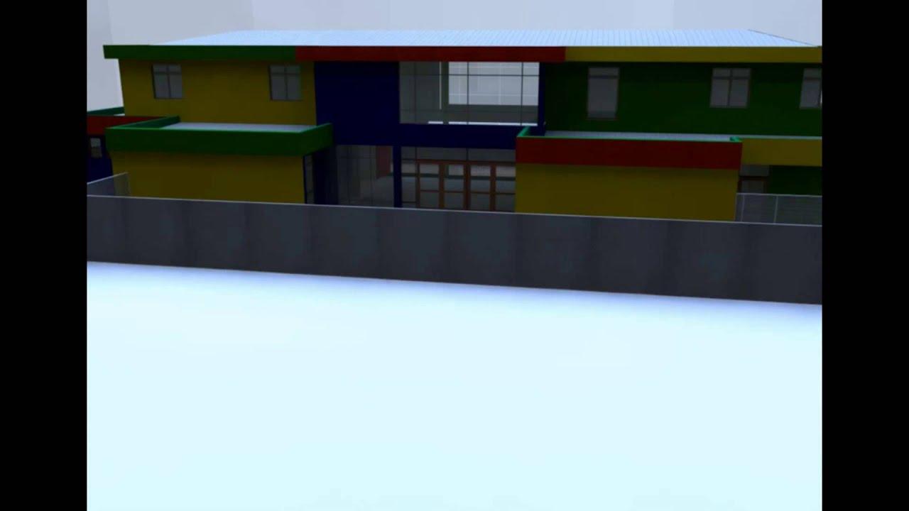 Maqueta Virtual Jardín Infantil Trencito en Villa Coigüe