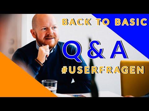 Q&A Back to Basic   Questioncommunity Teil 1 #userfragen