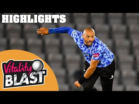 Hampshire v Sussex   Wright Scores 83 to Give Sharks Win!   Vitality Blast 2020 - Highlights