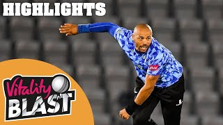 Hampshire v Sussex | Wright Scores 83 to Give Sharks Win! | Vitality Blast 2020 - Highlights