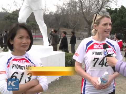 About 650 foreign runners take part in Pyongyang marathon