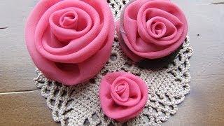 Цветы роз из ткани своими руками -модное украшение.(Можно сделать красивый цветок роза из любой ткани. Цветок из ткани служит украшением. Сделать цветок из..., 2014-03-17T13:14:21.000Z)