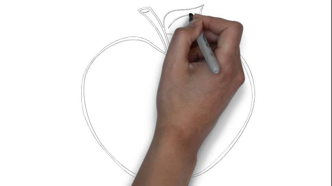 Cmo dibujar una manzana de dibujos animados  YouTube