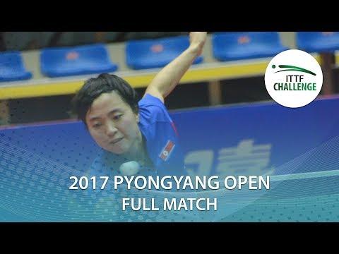 2017 Pyongyang Open: KIM Song I vs CHA Hyo Sim (Final)