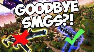 FORTNITE UPDATE V.2.5.0! REMOVING ALL SMGS? 50V50 v2 RETURNS!!!! (Fortnite Battle Royale)