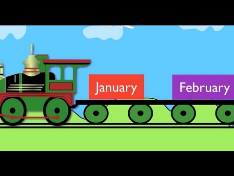 Months of the Year Train (January,February......)- Learning for kids