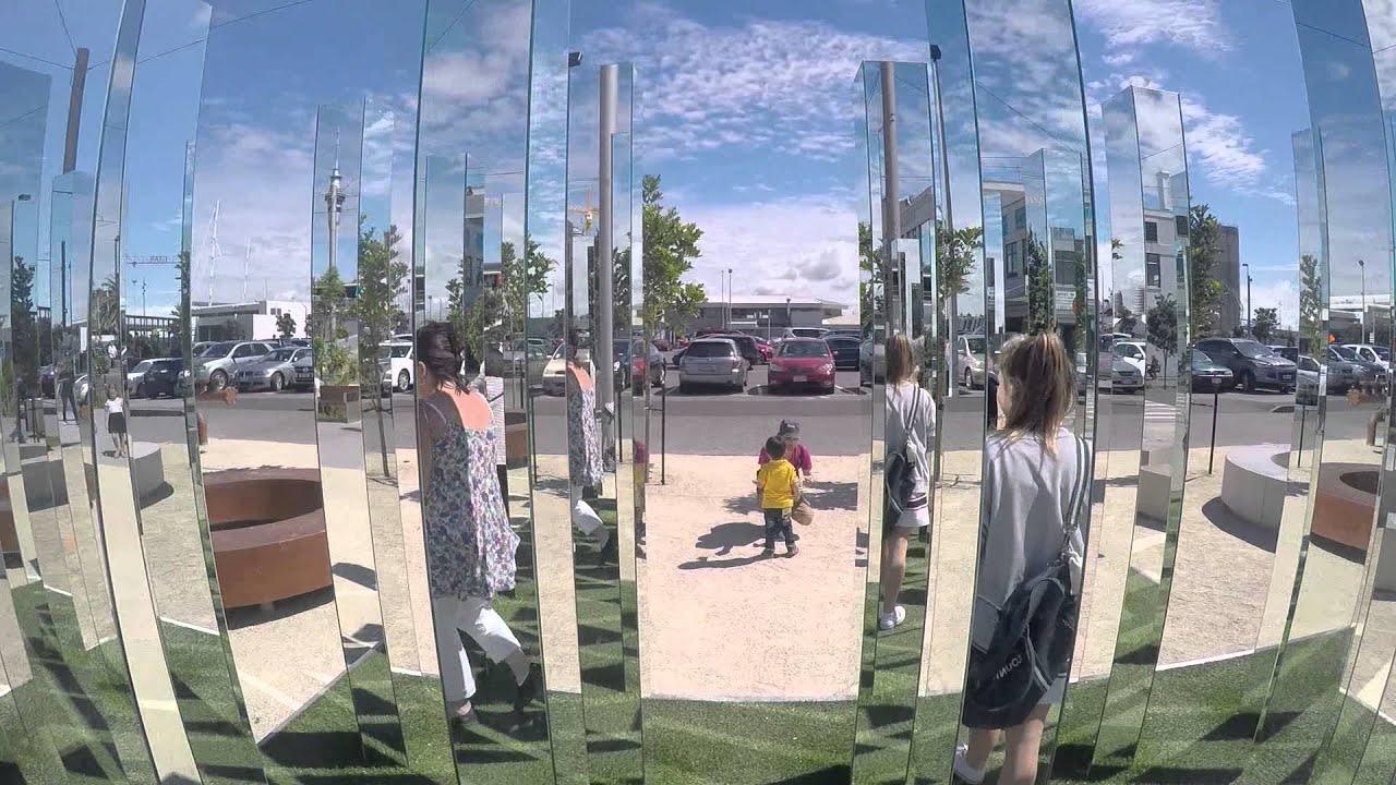 Mirror sculpture installation wynyard quarter youtube for Mirror installation