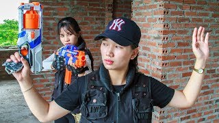 Nerf War Game : Special Police AL Nerf Guns Fight Bandits Criminal Group Diamond