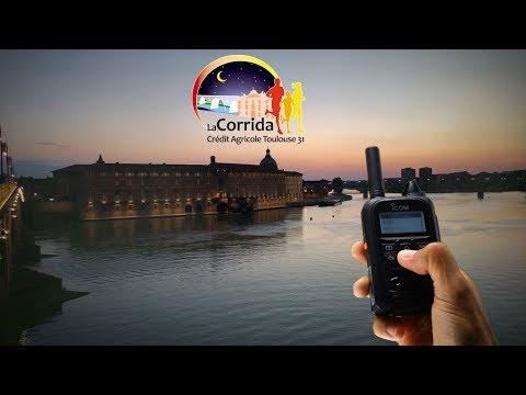 Corrida pédestre de Toulouse 2018. Radio LTE ICOM comme moyen de communication.