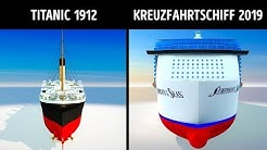 Die Titanic und moderne Kreuzfahrtschiffe im Vergleich