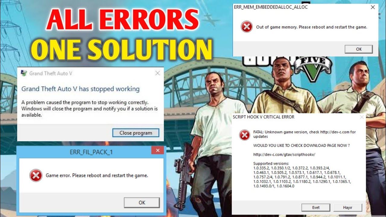 All Gta 5 Crash Solution Out Of Game Memory Gameconfig By Gt Gaming Youtube