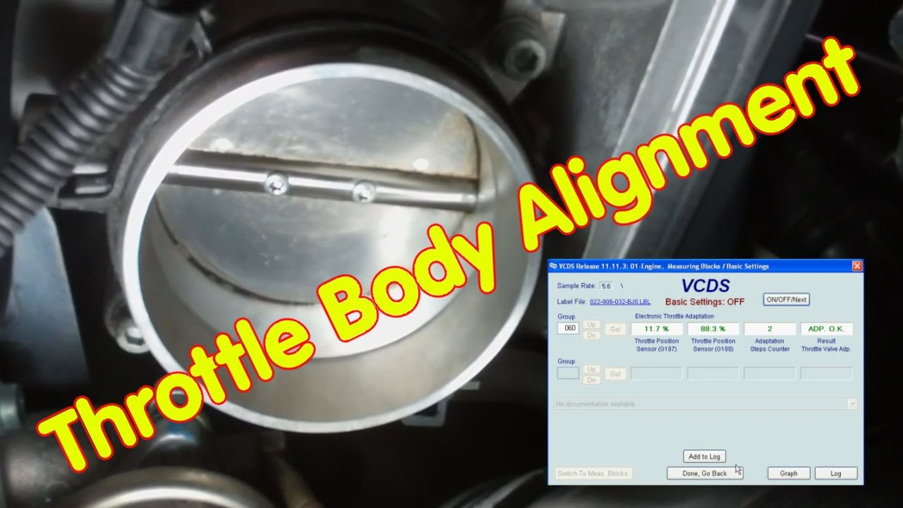 How To Do The Throttle Body Alignment With Vcds Youtube