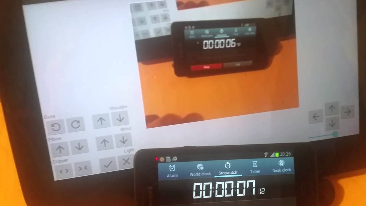 Test of UV4L video streaming to Android on Raspberry Pi
