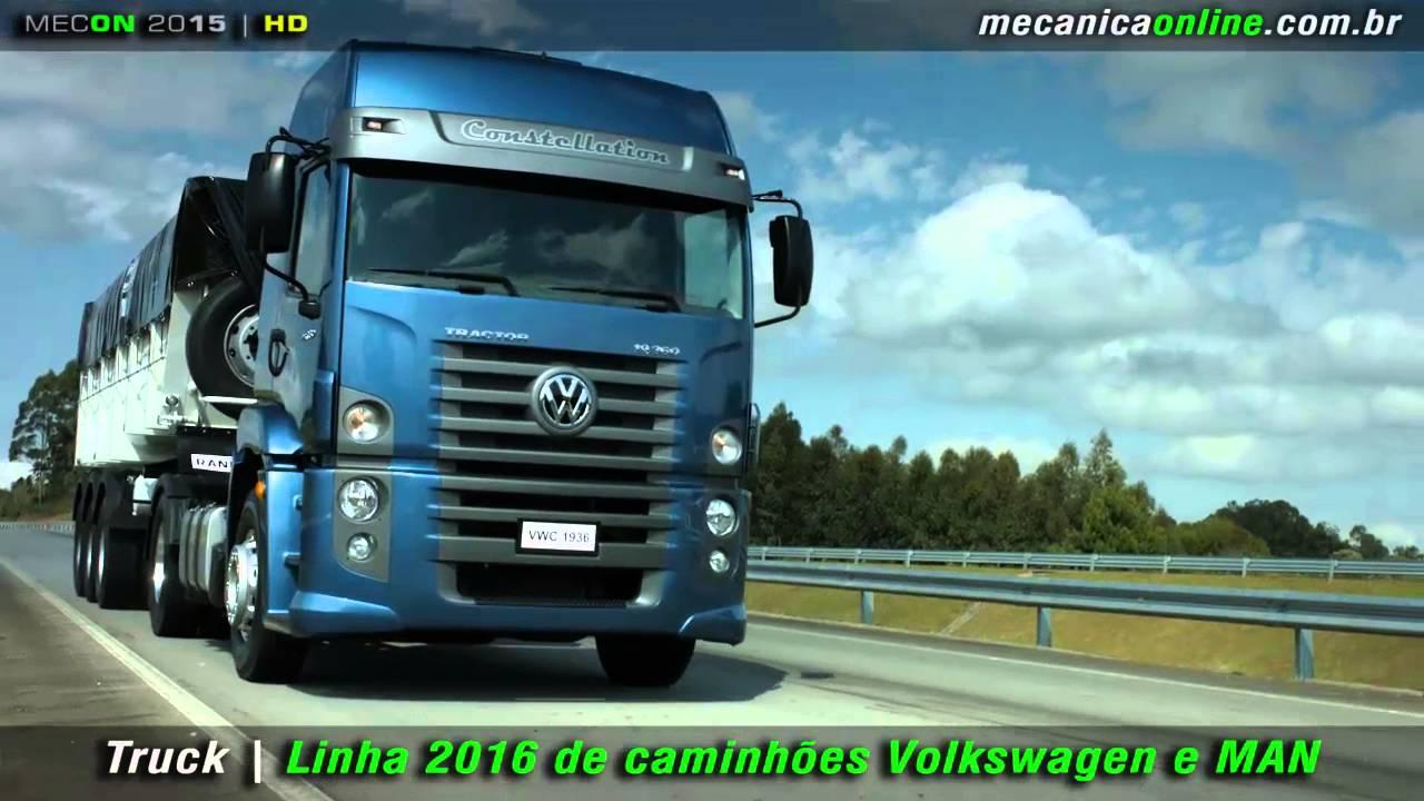 Linha 2016 De Caminh 245 Es Volkswagen E Man Youtube