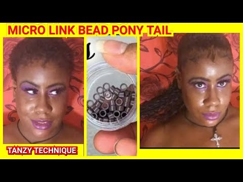 ponytail-on-short-1-inch-hair!!!!tanzy-technique!-no-braids-or-glue!!!