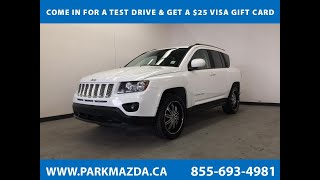 WHITE 2014 Jeep Compass  Review Sherwood Park Alberta - Park Mazda