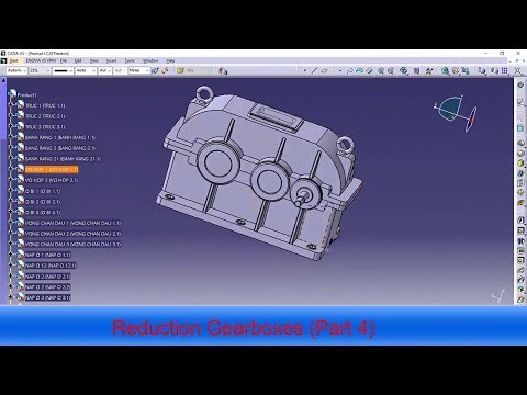 Reduction Gearboxes in catia (Part 4)