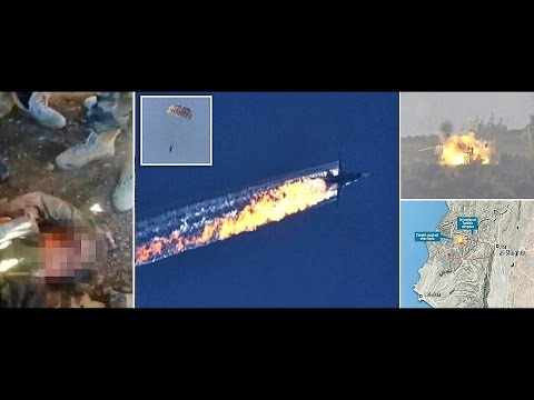 TURKEY RUSSIA COMPILATION - Shot down Fighter Jet, Pilots Captured, Syrian Rebels Blow Up Helicopter