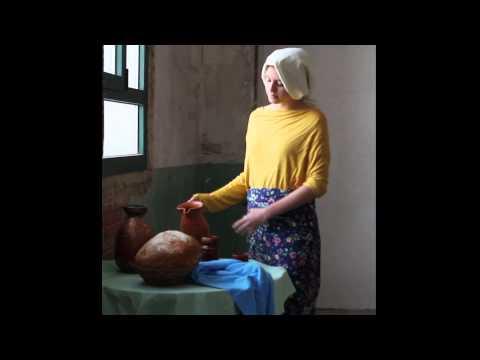 Recreaci del quadre de la lechera de vermeer youtube - La lechera de vermeer ...