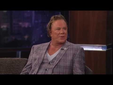 MICKEY ROURKE SHARES HIS EXPERIENCES