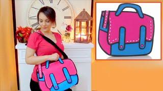 DIY crafts easy 2d cartoon bag handmade- tutorial - youtube - Isa ❤️