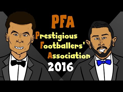PFA Awards Ceremony Highlights 2016 - Dele Alli and Riyad Mahrez win! (Interview Parody)