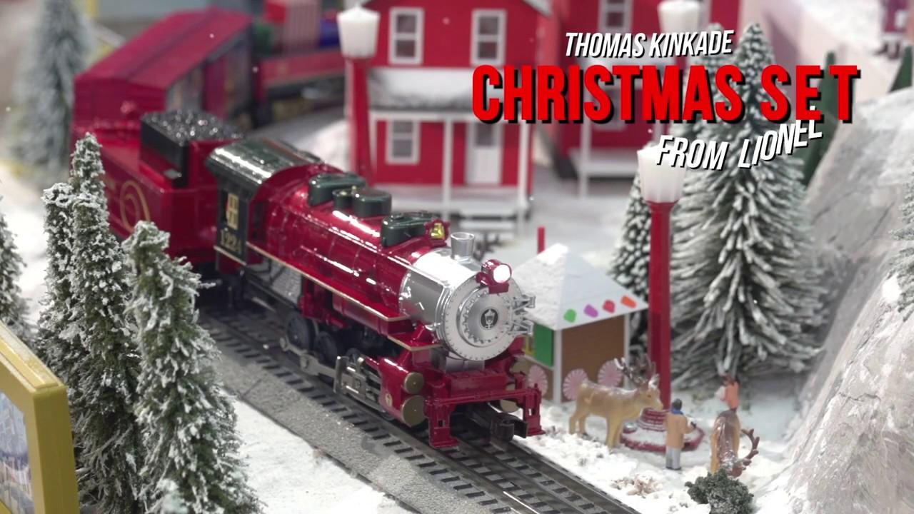 Thomas Christmas Train Set.Lionel 1823040 Thomas Kinkade Christmas Lionchief Set With Bluetooth