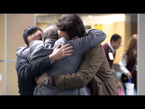 Emotional Reunions As Syrian Refugees Arrive In Canada