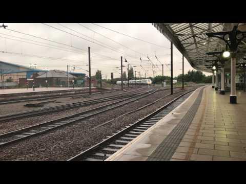 New 800019 runs through York on 5X80 Merchant Park to Doncaster Carr IEP Depot 28/07/17