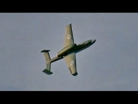 RC Turbine Heinkel He-162 Volksjäger Salamander , Demo Flight , JetPower Messe 2014 *HD*
