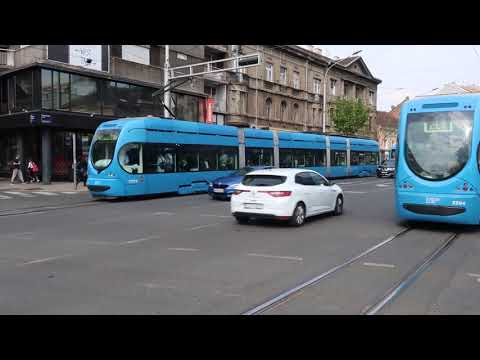 Zagreb, Croatia Trams 3 April 2019