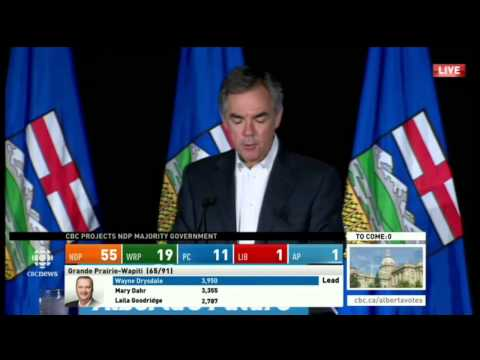Jim Prentice Concession Speech - Alberta Election 2015