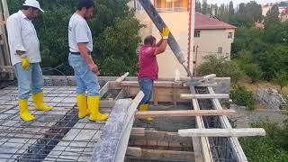 Staj beton dökümü basliyor
