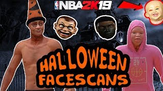 HALLOWEEN IN NBA 2K19! 👻| BEST SPOOKY/FUNNY FACESCANS! (BLACK FACE GLITCH & MORE!)