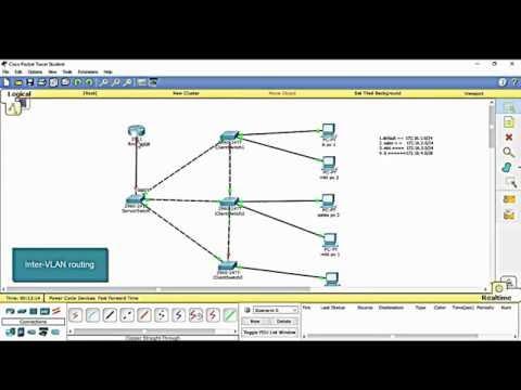 setup VLAN, VTP and Inter-VLAN in Cisco Packet Tracer