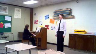 Justin performance at 2011 district music contest Au Silvia by Franz Schubert