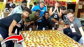 $1000 WORLDS LARGEST PIZZA EATING CHALLENGE W/2HYPE!